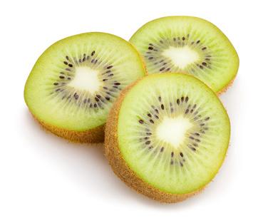 kiwi sliced isolated