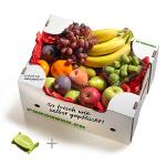 Red Box mit Sparschäler Freshbox Früchtebox
