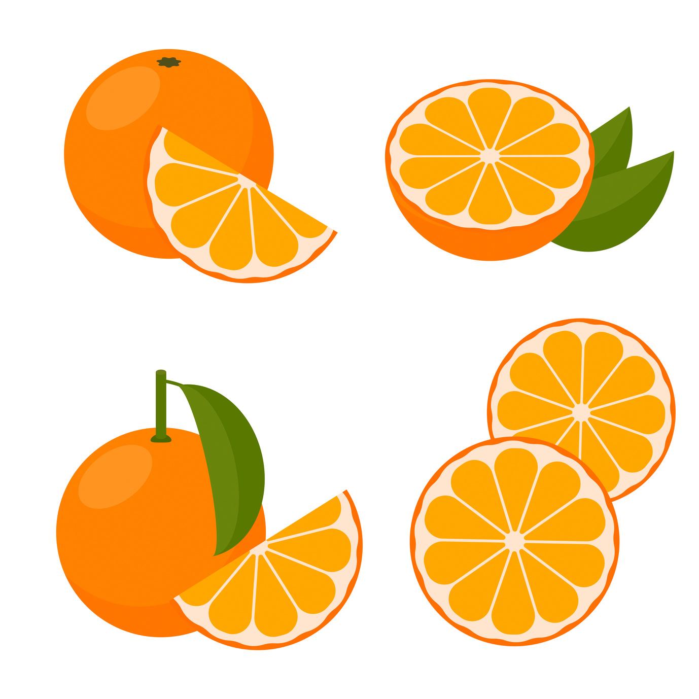Vector orange. A set of icons.
